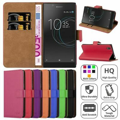 New Slim Flip Book Soft Leather TPU Wallet Case Cover For Sony Xperia Phones