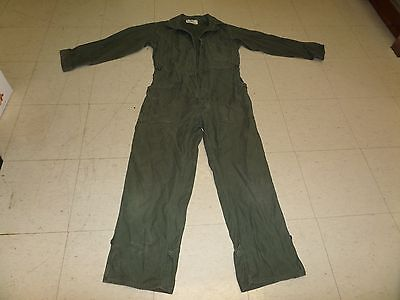 Vintage military aircraft aviation mechanics coveralls