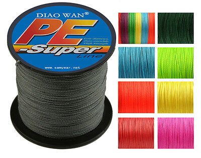 500M 4 Weave Super Strong Dyneema Spectra Extreme PE Braided Sea Fishing Line