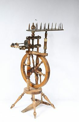 ANTIQUE GERMAN - SCANDINAVIAN SPINNING WHEEL Signed MARRES GEMUNDEN Brides