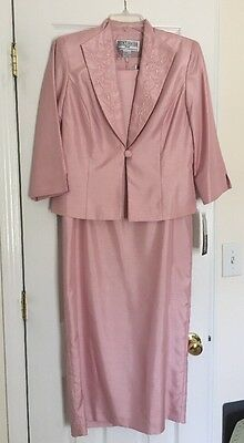NWT Mother Of The Bride Formal Dress Shimmery Pink 10 Petite Jessica Howard