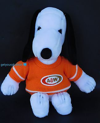 Rare Vintage Large Snoopy A&w Root Beer Plush 1988
