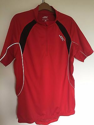 Red JDC Cycling Jersey XL Short Sleeve - Excellent Condition