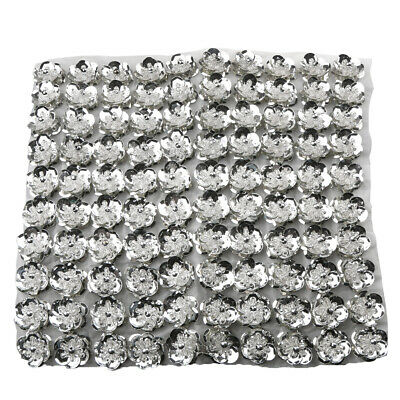 100pcs/Set Cupped Sequins Beads Flower Embellishments for Sewing Decoration 20mm