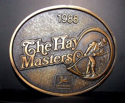 John Deere Ottumwa The Hay Master EMPLOYEE Belt Buckle 1988 Limited Ed  418/1300