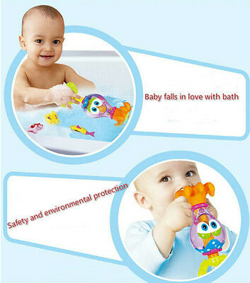 Baby Bath Toys 0-12 Months Plastic Cartoon Octopus Fun Pool Toys For Bathroom FO