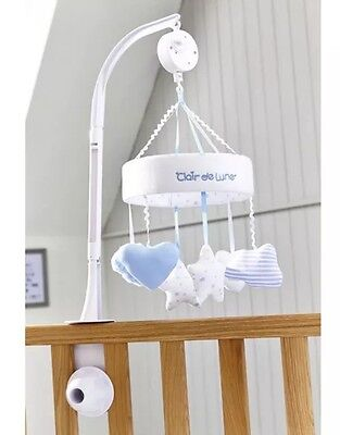 Brand new in box Clair de lune little dreams cot musical mobile in BLUE & PINK