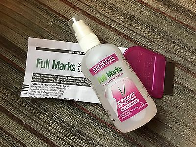 Full Marks Nit Solution Spray 5 Minute Treatment (3 Applications)150ml NO BOX