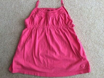 Gap Kids Girl Summer Top Sleeveless Spaghetti Straps Shirt Coral Pink Size 6-7 S