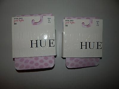NEW  HUE Girls Tights Size S (4-6)