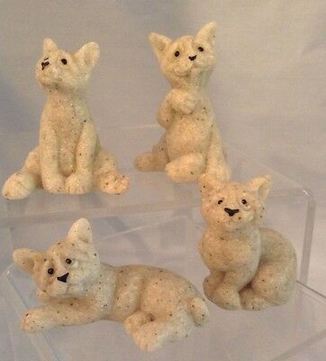 Quarry Critters Cats Miniatures Second Nature Set/4 Resin Figurines $16.99
