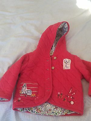 Baby Girl next Pink Floral Jacket 12-18 Months