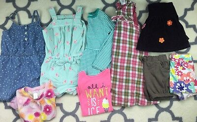 Lot of Girls Summer Clothes Shirts Sorts 4T 5T 5 old navy Gymboree romper dress