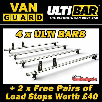 (SWB-L1 LWB-L2 / LOW-H1 MED-H2)  4 x Van Guard ULTI Bars Roof Rack LDV V80 2015+
