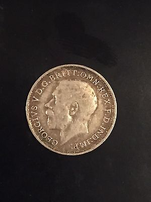 1917 Great Britain 3 Pence 0.925 Silver George V