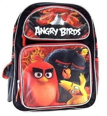 "Rovio Angry Birds Boys & Girls 16"" Canvas Red School Backpack"