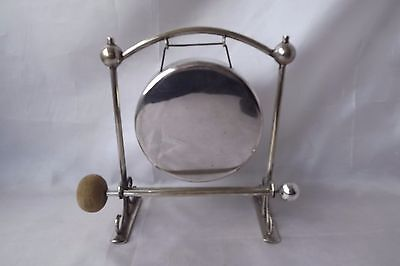 silver plated dinner gong