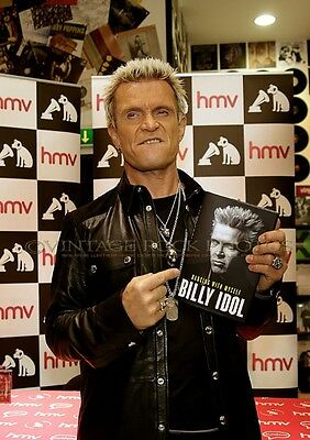 Billy Idol Photo 8x12 or 8x10 inch Pro Lab Print '14 UK Book Signing Candid SH18