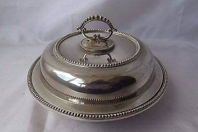 silver plated terrine serving dish