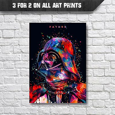 Darth Vader 'Father' Abstract Pop-Art Poster Wall Art Print - A4 Prints