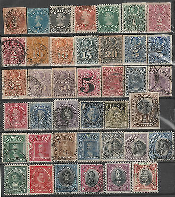 Chile 1853-1920 Classic Collection Imperf Ruleteados Colones Presidents 59 stmps