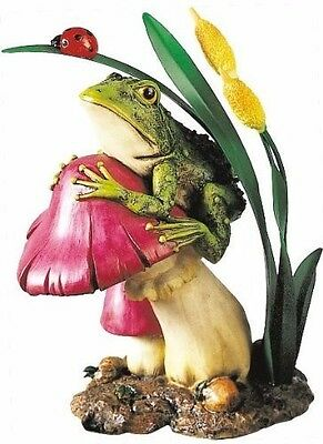 "10"" Realistic Resin Frog Statue Garden Home Display Collectible Yard Decoration"
