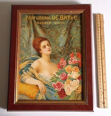 Vintage / Antique Wall Picture Victorian Era? Reproduction? Lady With Roses