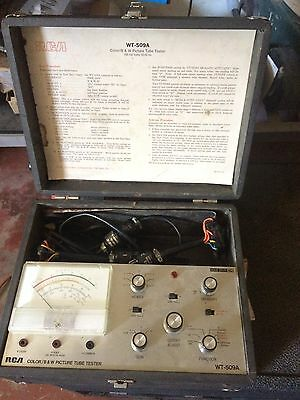 Old RCA Tube Tester #WT-509A and Jewell portable D.C. Voltmeter