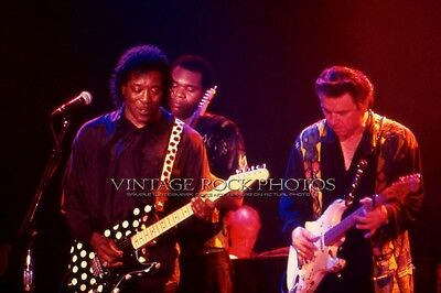 Buddy Guy Jimmie Vaughan Photo 8x12 or 8x10 in '80s Live Concert Fuji Print 7