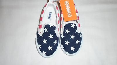 NEW Toddler Boys Size 8 Gymboree Sneakers Red White and Cute 7/4 Stars Stripes