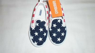 NEW Toddler Boys Size 9 Gymboree Sneakers Red White and Cute 7/4 Stars Stripes