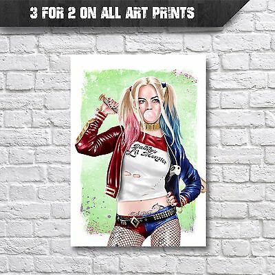 Harley Quinn Suicide Squad Movie Poster Wall Art Print - A4 Prints