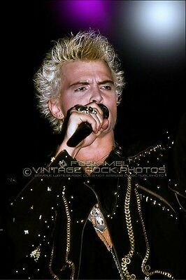 Billy Idol Photo 8x12 or 8x10 inch 80s LiveConcert Pro Fuji Print Exclusive L16