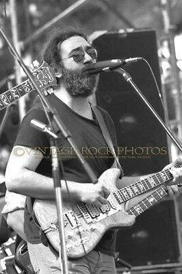 Jerry Garcia Grateful Dead Photo 8x12 inch '79 San Jose CA Live Concert Print 36