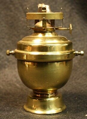 Vintage Perko Maritime Ship Wall Mount Brass Kerosene Mini Oil Lamp Lantern Gray