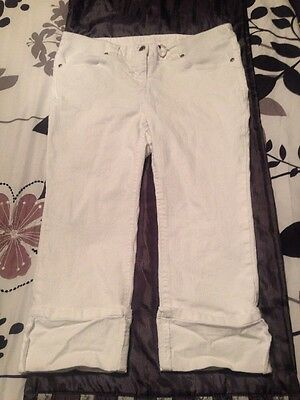 Red Herring Maternity Crop White Jeans Size 10