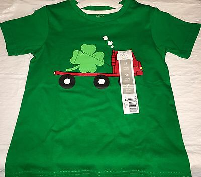 Toddler Boys 3T St. Patrick's Day T-shirt Green Truck Clover NWT *Charity*