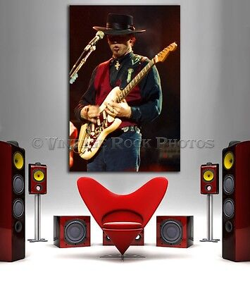 Stevie Ray Vaughan Canvas Giclee Print Framed Photo 20x30 in Fine Art Gallery 6
