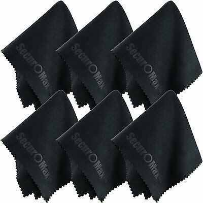SecurOMax Microfiber Cleaning Cloth 8x8 Inch (6 Pack) for Lens, Eyeglasses,