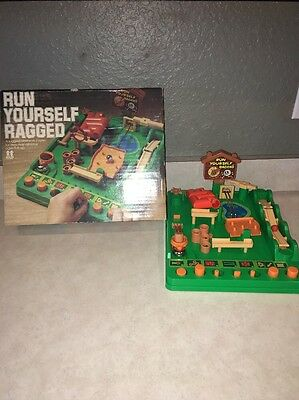 Vintage Run Yourself Ragged Game with Original Box - Free Shipping