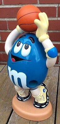"""M&M Candy Dispenser Basketball Blue Licensed Collectible 13"""""""