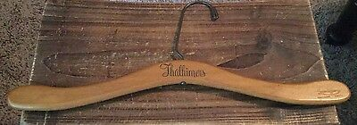 Vintage Wood Wooden Clothes Hanger Advertising THALHIMERS Department Store