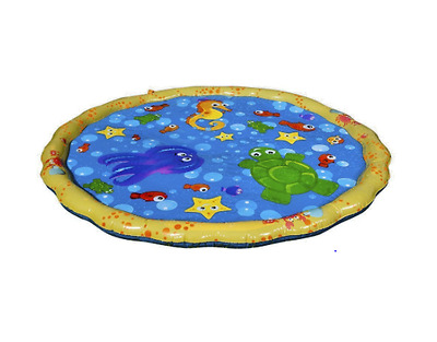 "Banzai Jr. 54"" Diameter Sprinkle 'N Splash Play Mat Water Play Pad for Toddler"