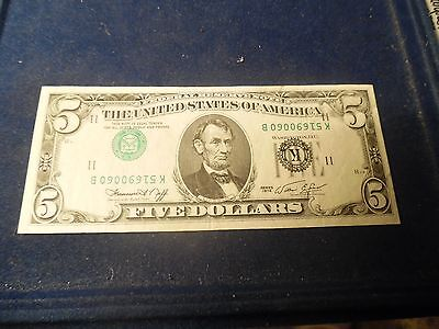 1974 Series $5.00 ERROR FRNote with Inverted 3ed Printing #B-45