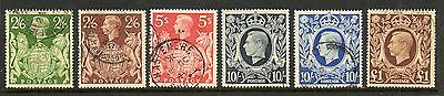 GB GVI 1939 High values SG476-478c fine used set stamps cat £60