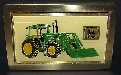 John Deere Tractor Loader Belt Buckle 1984 Canadian Farm Progress Show  ball tip