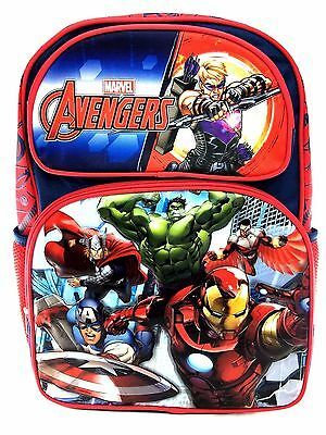 """Mavel Avengers Age of Ultron Boys 16"""" Canvas Red School Large Backpack"""
