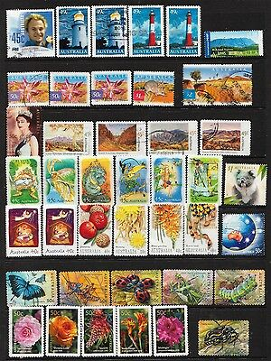 2002/2003 Page Of Australian Stamps  Used