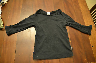 Bonds black long sleeve top - size 0