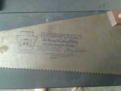 """Vintage  28""""Henry Disston D-8 4 1/2 pt Rip Saw [Postage is Available]"""